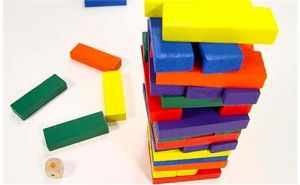 Rút thanh gỗ màu 54 Blocks (7,5 x 7,5 x 27cm)