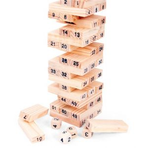 Rút thanh gỗ có số Wiss Toy (5 x 5 x 16.5cm)