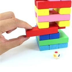 Rút thanh gỗ màu Wiss Toy (4,5 x 4,5 x 13cm)