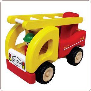 Xe thang cứu hỏa bằng gỗ Winwintoys