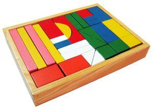 Bộ xếp hình xây dựng 30 chi tiết bằng gỗ P&G