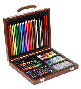 Bộ bút màu hộp gỗ đa năng Colormate hàng quà tặng Pediasure