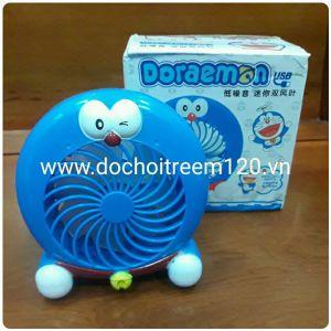 Quạt pin mini Doraemon để bàn