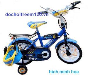 Xe đạp màu xanh cho bé trai Nhựa Chợ Lớn 14 inch
