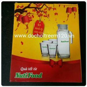 Bộ bình + 4 ly thủy tinh cao cấp Nuti