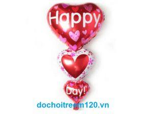 Bong bóng kiếng Trái Tim 3 tầng Happy Day