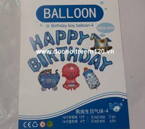 Set #6 bong bóng kiếng Birthday Boy 17 món