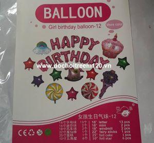 Set #5 bong bóng kiếng Birthday Girl 25 món