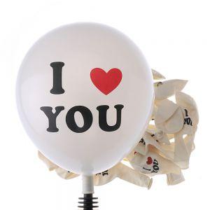 BÓNG TRÒN SỮA IN CHỮ I LOVE YOU 10 cái 25CM