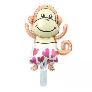 Bong bóng kiếng Con Khỉ bận quần tim 88cm