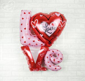 Bong bóng kiếng chữ Love cách điệu 91cm