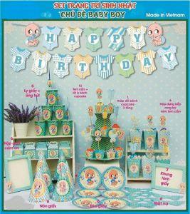 Set trang trí sinh nhật theo chủ đề 11 món - tặng 1 bong bóng kiếng 45cm