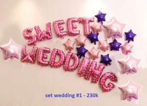 Set wedding #1 bong bóng kiếng trang trí 28 món