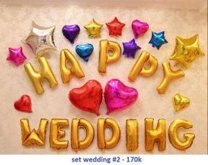 Set wedding #2 bong bóng kiếng trang trí 26 món