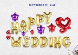 Set wedding #4 bong bóng kiếng trang trí 20 món (WEDDING)