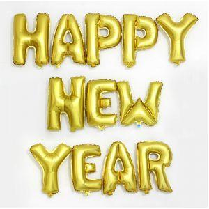 Set bong bóng kiếng chữ HAPPY NEW YEAR ( có 4 màu)