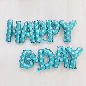 Set bong bóng kiếng chữ Happy B-day dính liền (có 4 màu)