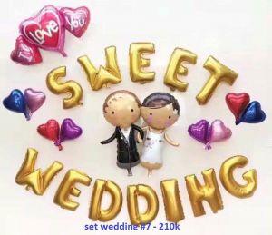 Set wedding #7 bong bóng kiếng trang trí 23 món
