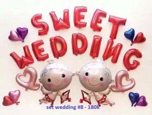 Set wedding #8 bong bóng kiếng trang trí 24 món