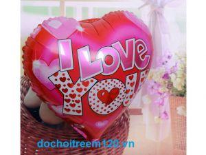 Bong bóng kiếng hình Trái tim I love you 45cm