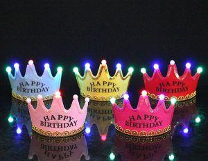 Vương miện có đèn Happy Birthday (có 5 màu)