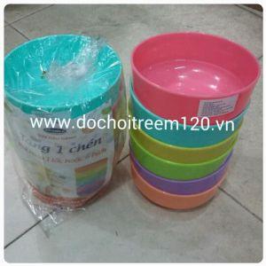Bộ 6 chén nhựa màu Vinamilk