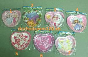 Set 10 đĩa giấy hình trái tim (có nhiều mẫu)