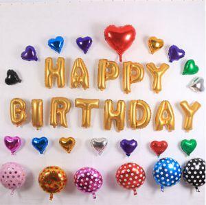 Set Bong bóng kiếng nylon chữ Happy Birthday (có 5 mẫu)
