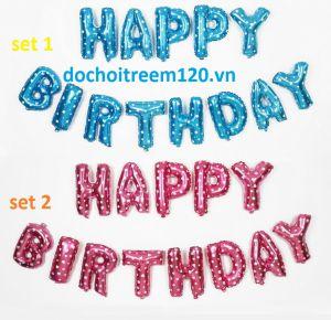 Set Bong bóng kiếng nylon chữ Happy birthday