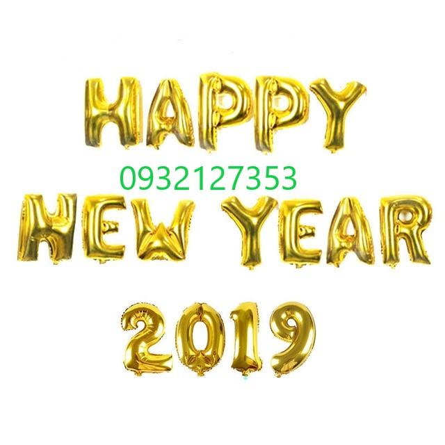 SÉT TRANG TRÍ HAPPY NEW YEAR 2019