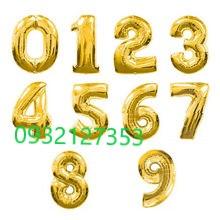 BÓNG SỐ SIZE 35CM MÀU VÀNG GOLD