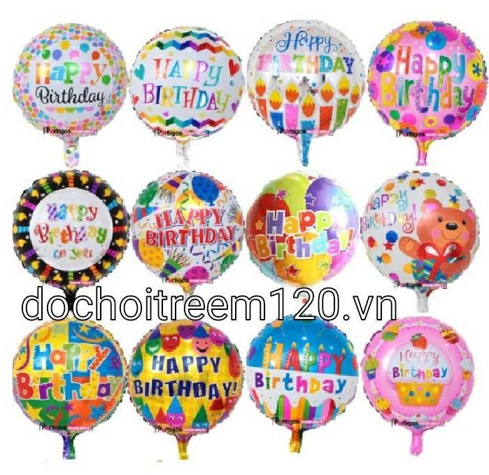 Bong bóng kiếng tròn 45cm chữ Happy Birthday