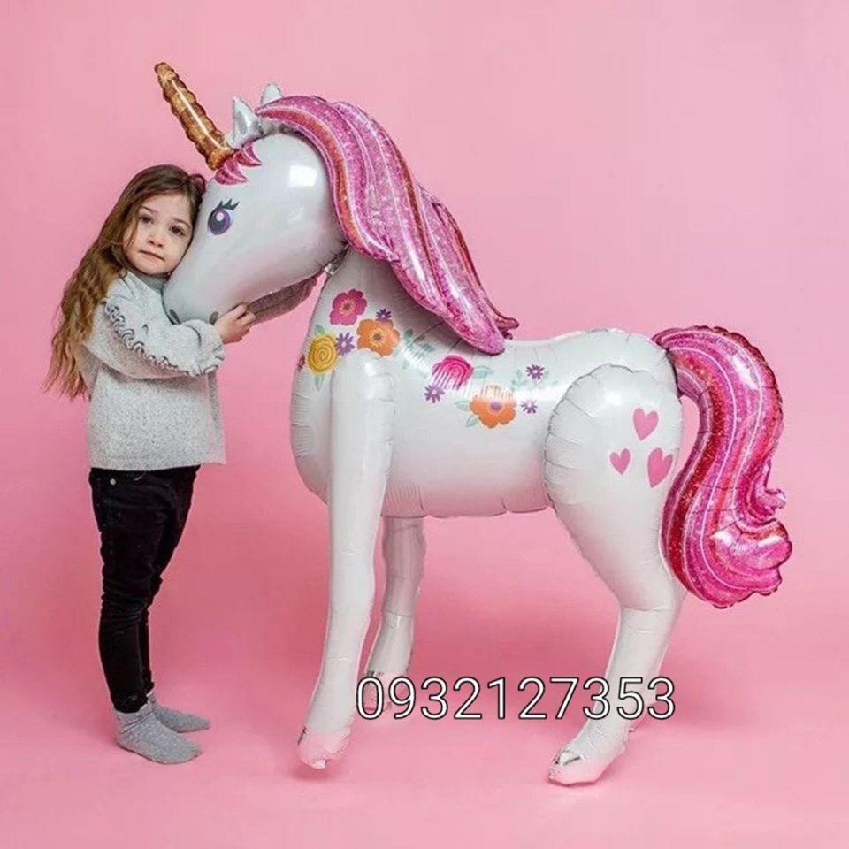 Bóng kiếng hình Ngựa Pony 4d cao 116cm ngang 106cm