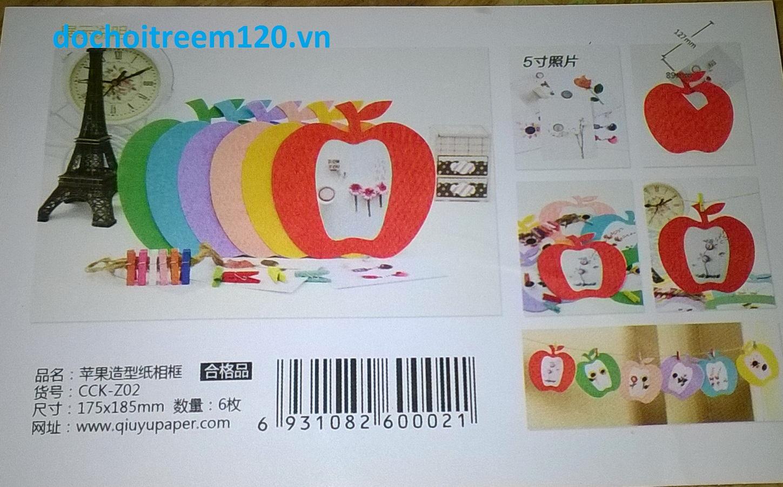 Khung hình dây treo bằng giấy hình trái táo / hình bướm