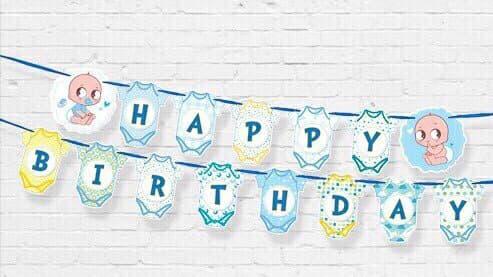DÂY HAPPY BIRTHDAY CHỦ ĐỀ  BOY BẰNG GIẤY DÀI 2M