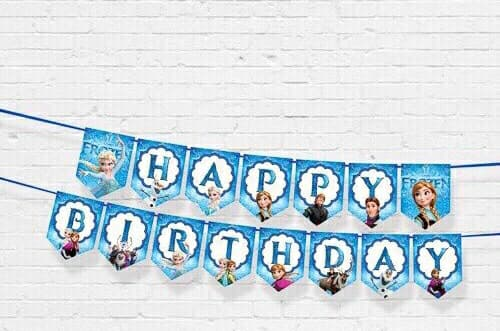 DÂY HAPPY BIRTHDAY CHỦ ĐỀ ELSA BẰNG GIẤY DÀI 2M