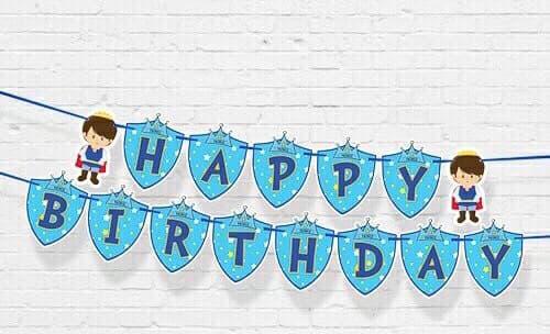 DÂY HAPPY BIRTHDAY CHỦ ĐỀ HOÀNG TỬ BẰNG GIẤY DÀI 2M