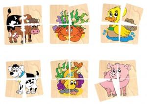 Ghép hình 10 con vật Winwintoys