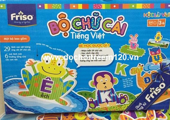 Bộ chữ cái bằng xốp và decal  tiếng Việt hình thú Friso