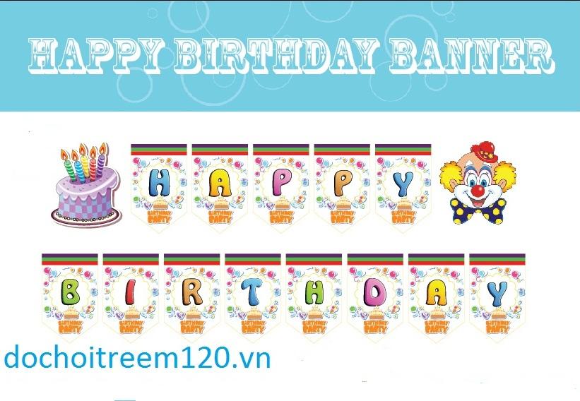 Dây chữ sinh nhật Happy Birthday 2 tầng theo chủ đề