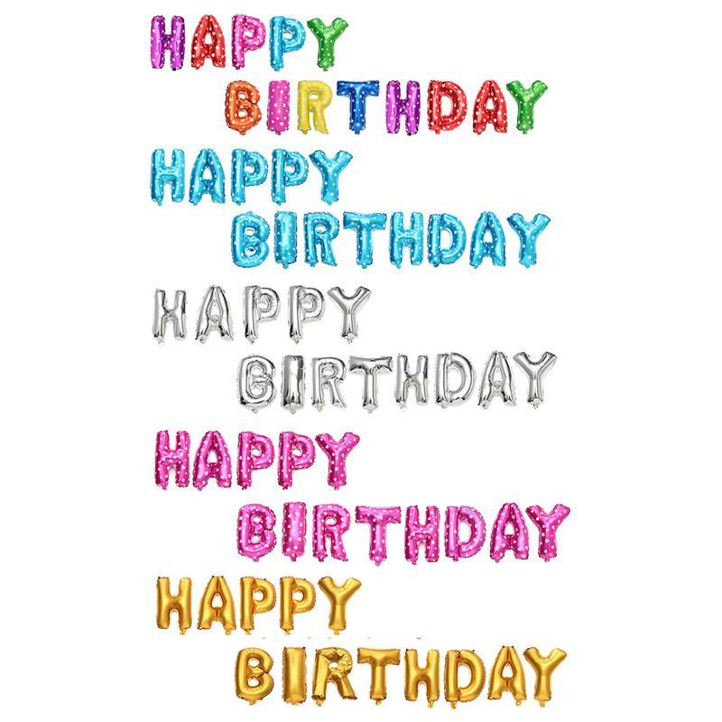 Bong bóng kiếng chữ HAPPY BIRTHDAY (có 10 màu)