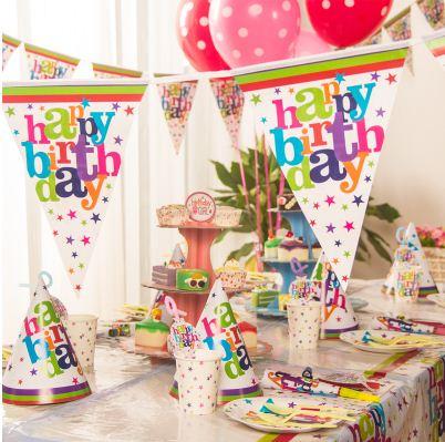 Set trang trí sinh nhật 12 món mẫu HAPPY BIRTHDAY