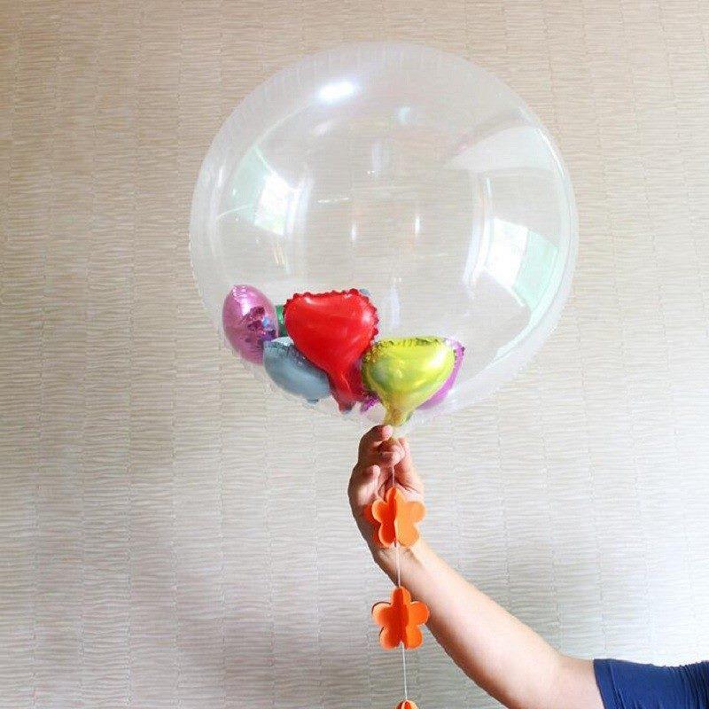 Bong bóng cao su trong suốt khổng lồ tròn 60cm