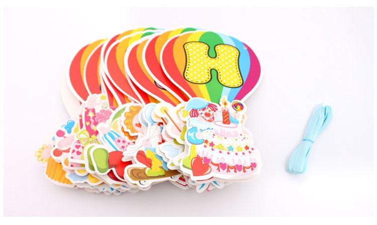Dây chữ Happy Birthday mẫu Chú Hề kt 3,6m