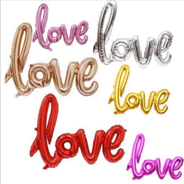 Bong bóng kiếng chữ Love dài kt 105cm (có 6 màu)