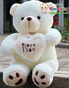 Gấu ôm tim Love