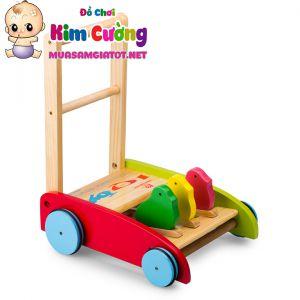Xe tập đi bằng gỗ IQ Toys
