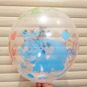Gói 6 cái bong bóng cao su trong suốt hình thú 30cm
