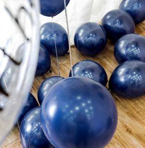 Set 10 bong bóng nhũ màu xanh Navy 25cm