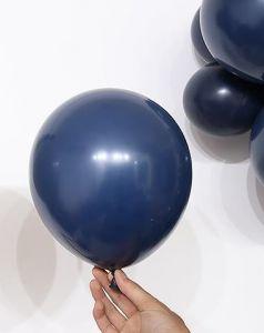 Bịch 50 bong bóng tròn màu xanh Navy 25cm